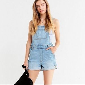 Overall shorts distressed faded wash S